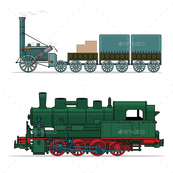 Train  - Retro Technology