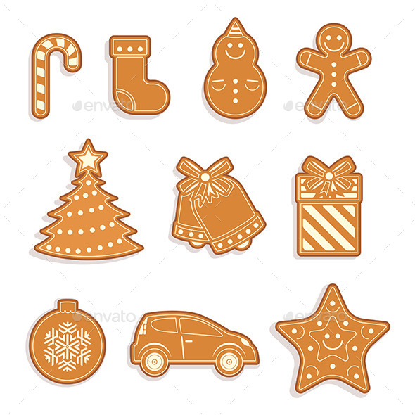 Gingerbread Seamless Pattern - New Year Seasons/Holidays