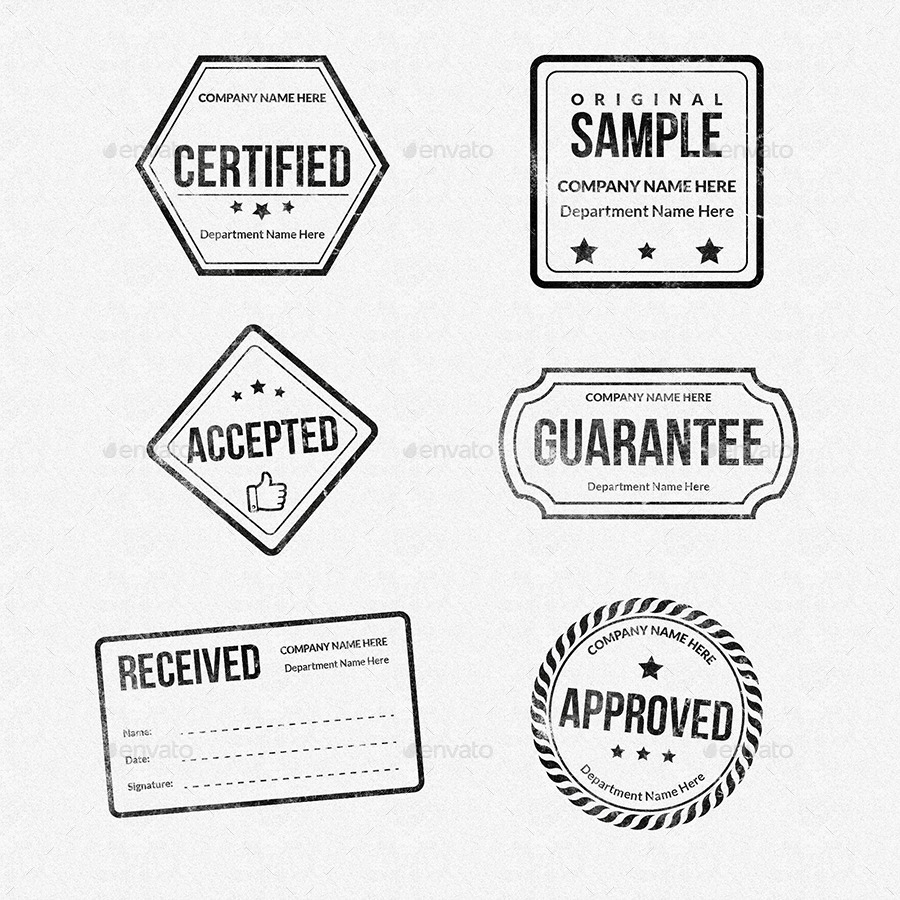 Rubber stamps designs collection by owpictures graphicriver for Company stamp template