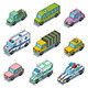 Vector Car Icons - GraphicRiver Item for Sale