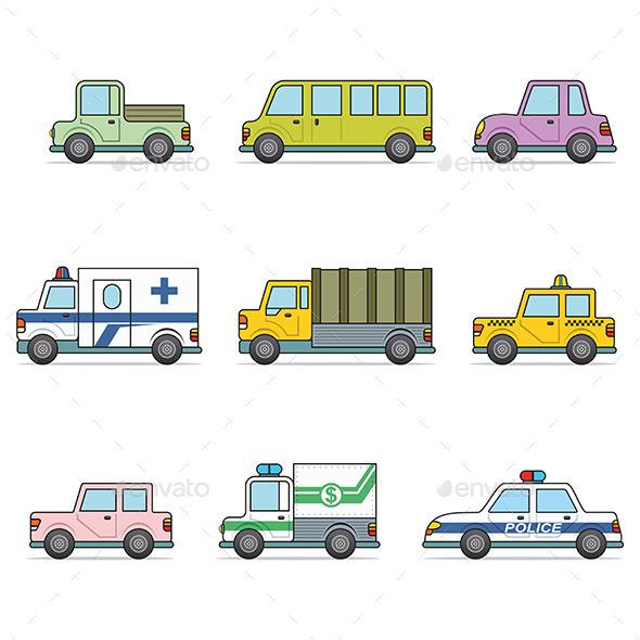 Vector Car Icons - Technology Conceptual