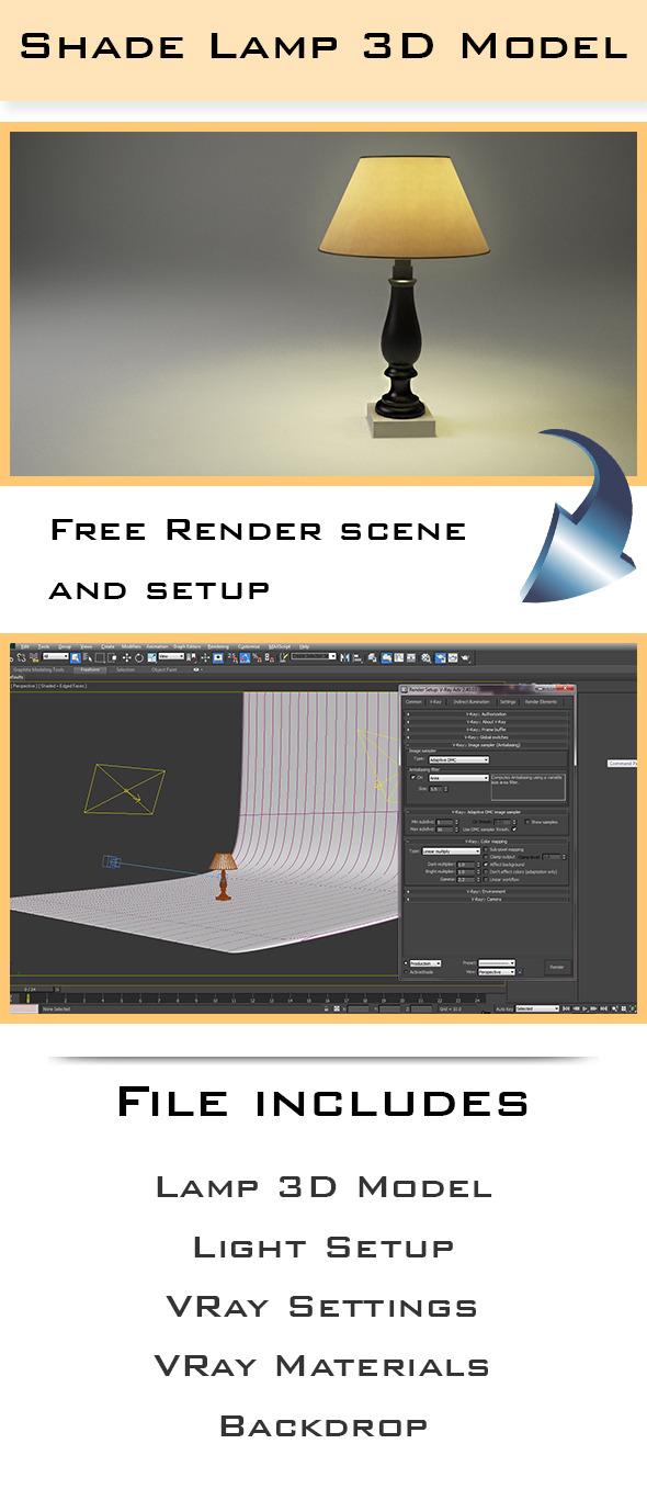 Shade Lamp - 3DOcean Item for Sale