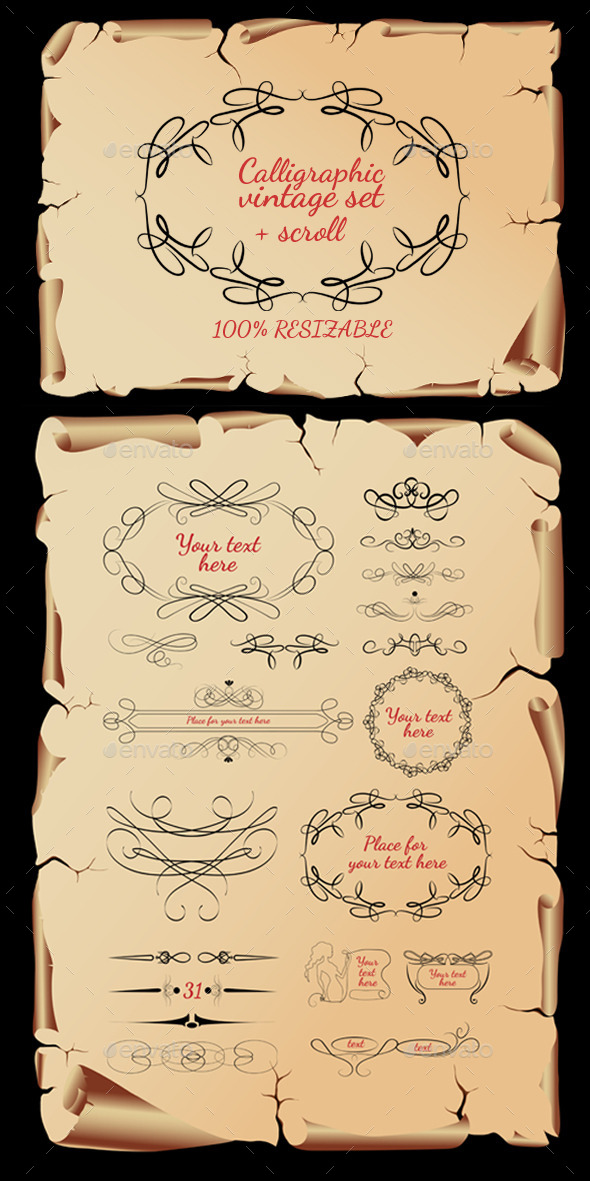 Calligraphic Vintage Set - Vectors