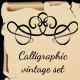 Calligraphic Vintage Set - GraphicRiver Item for Sale