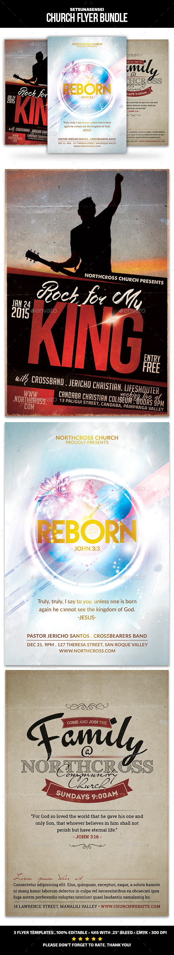 Church Flyer Bundle - Church Flyers