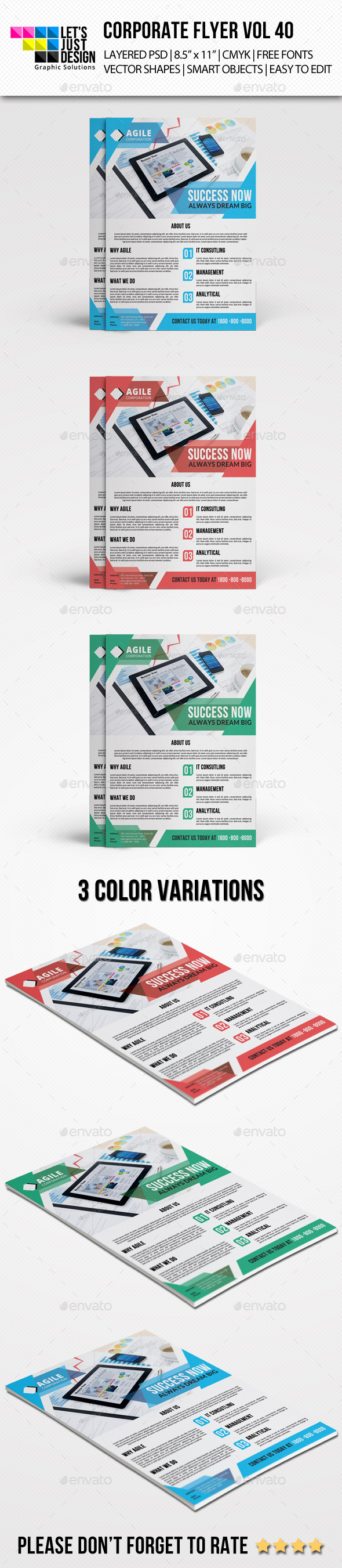 Corporate Flyer Template Vol 40 - Corporate Flyers