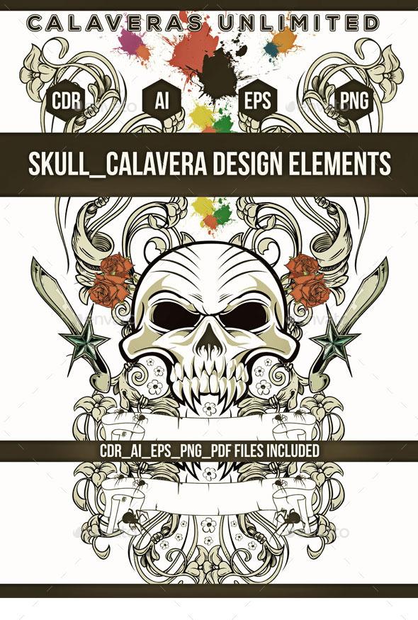 Skull Emblem  - Decorative Symbols Decorative