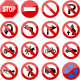 Road Sign Glossy Vector (Set 4 of 6) - GraphicRiver Item for Sale