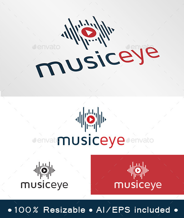 Music Eye Logo - Symbols Logo Templates