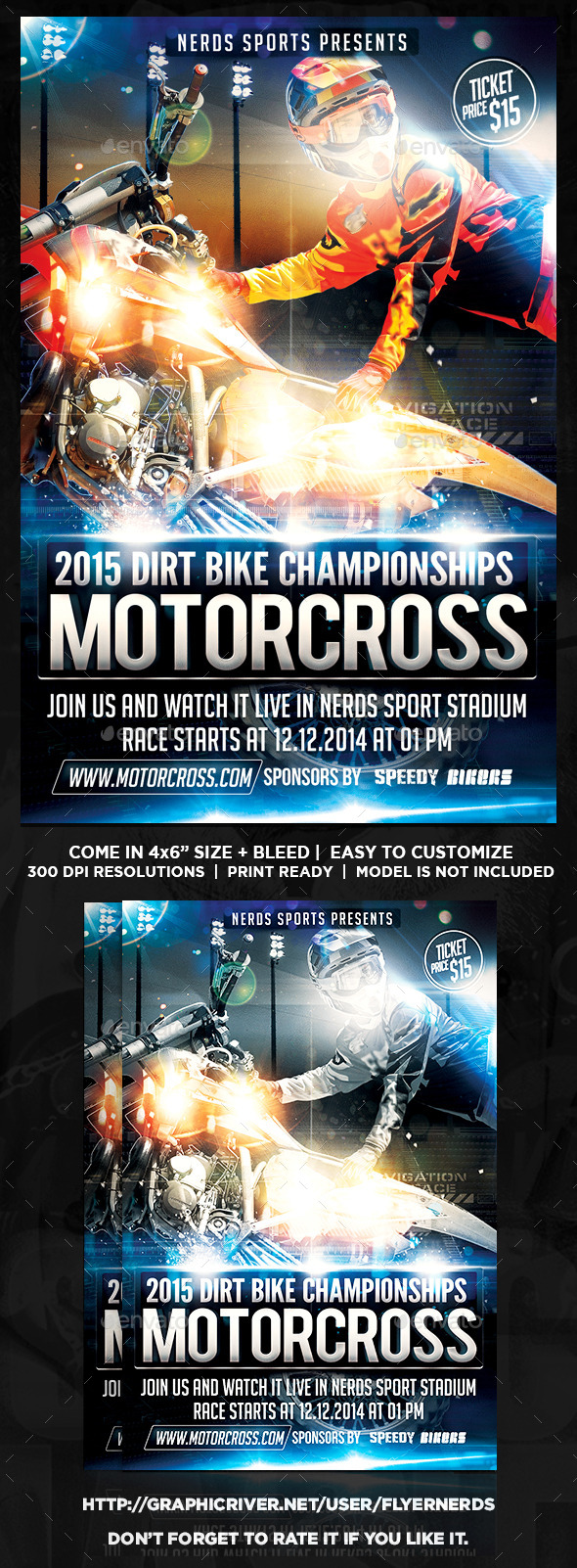MotorCross Championships Sports Flyers - Sports Events