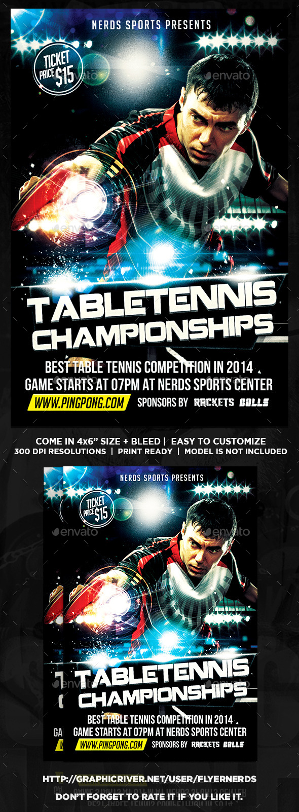 Table Tennis Championships Sports Flyer - Sports Events