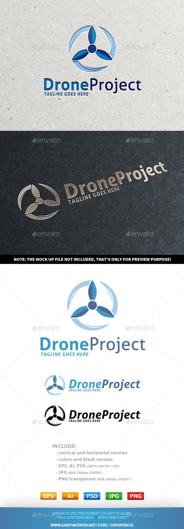 Drone Project Logo - Symbols Logo Templates