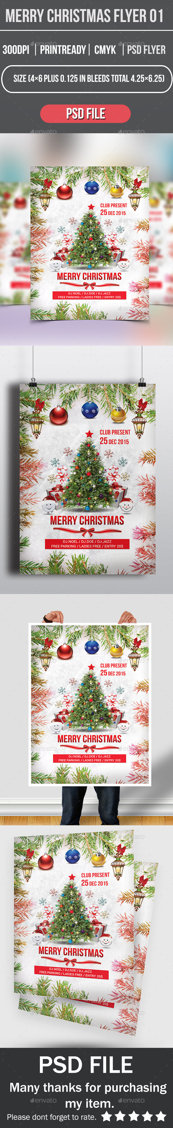 Merry Christmas Flyer 01 - Events Flyers