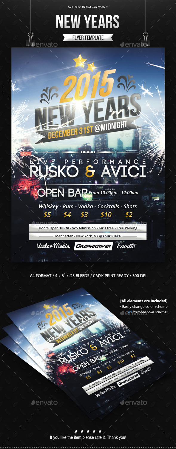 New Years - Flyer - Clubs & Parties Events