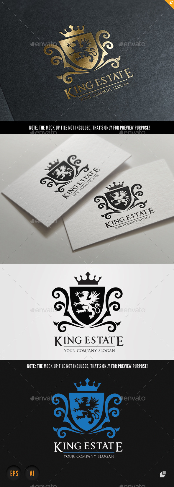 King Real Estate - Crests Logo Templates