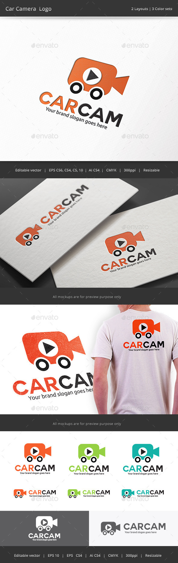 Car Camera Logo - Objects Logo Templates