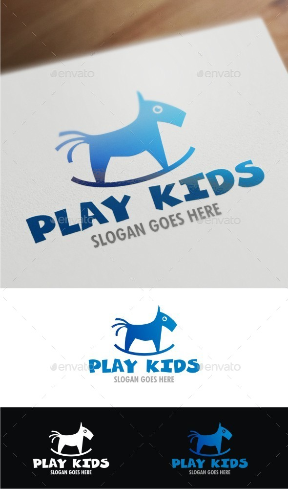 Play Kids - Humans Logo Templates