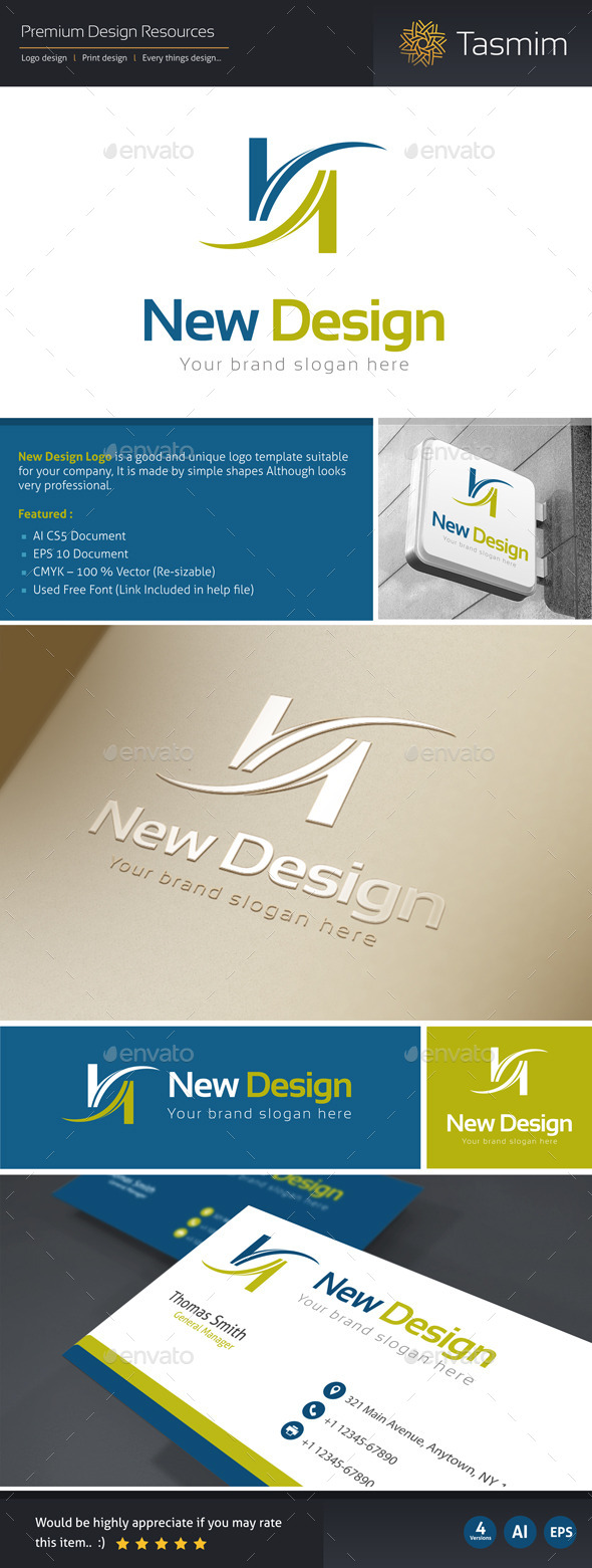 New Design Logo Template - Letters Logo Templates