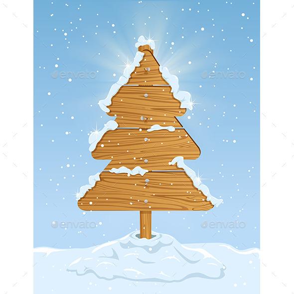Wooden Christmas Tree - Christmas Seasons/Holidays