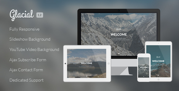 Glacial – Responsive Under Construction Template