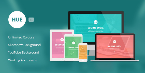 Hue – Responsive Under Construction Template