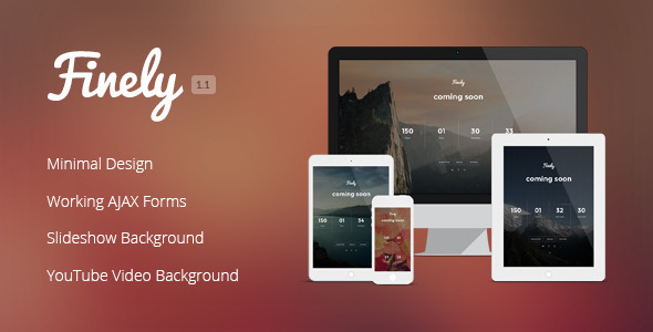 Finely – Responsive Under Construction Template
