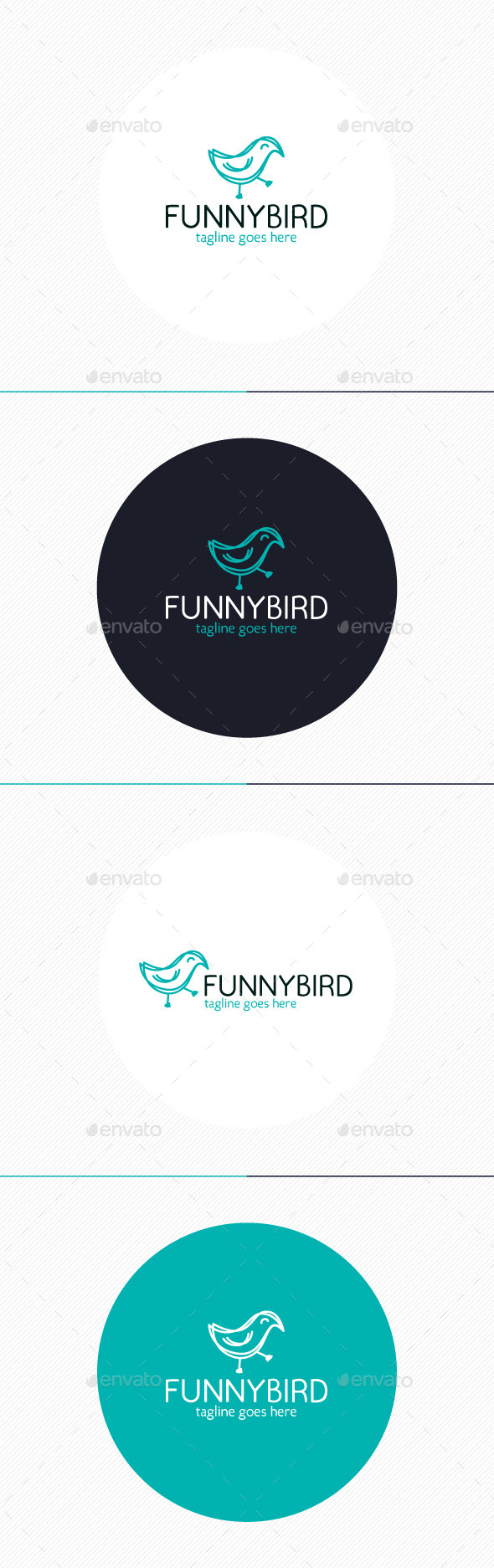Funny Bird Logo - Animals Logo Templates
