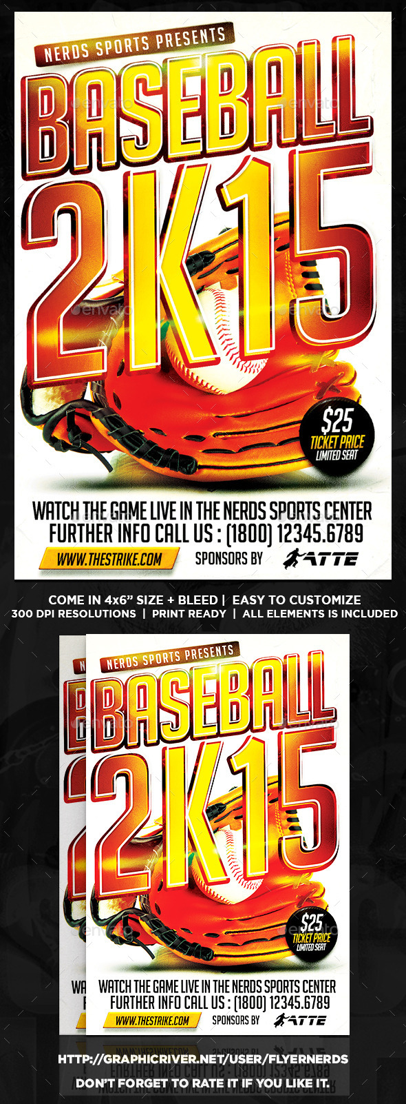 Baseball 2K15 Sports Flyer - Sports Events