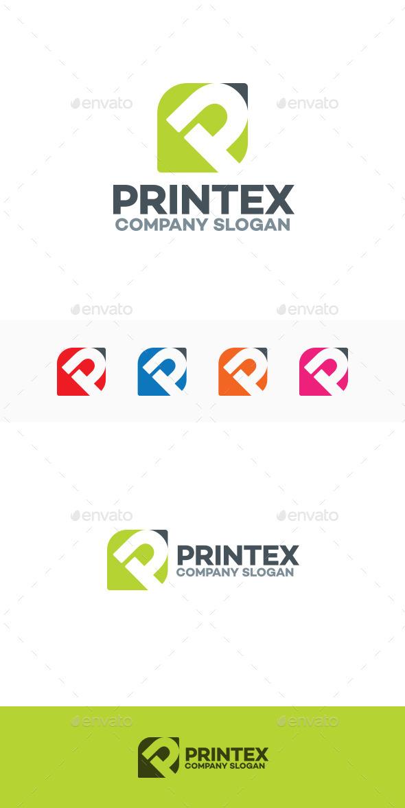 Printex - P Letter Logo - Letters Logo Templates