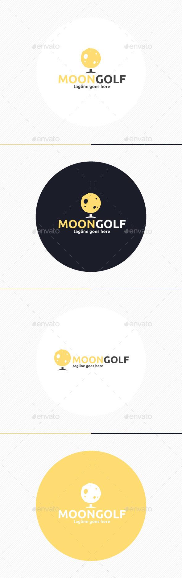 Moon Golf Logo - Symbols Logo Templates
