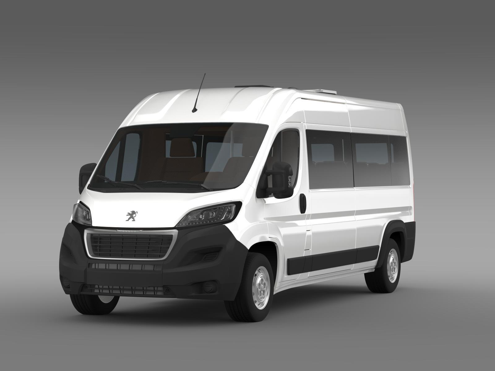 peugeot boxer minibus 2014 by creator 3d 3docean. Black Bedroom Furniture Sets. Home Design Ideas