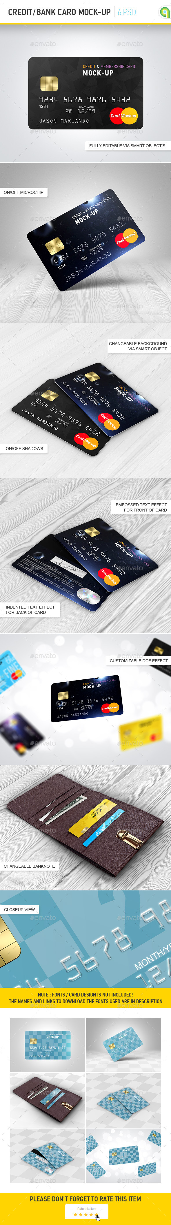 Credit / Bank Card Mock-Up  - Miscellaneous Print