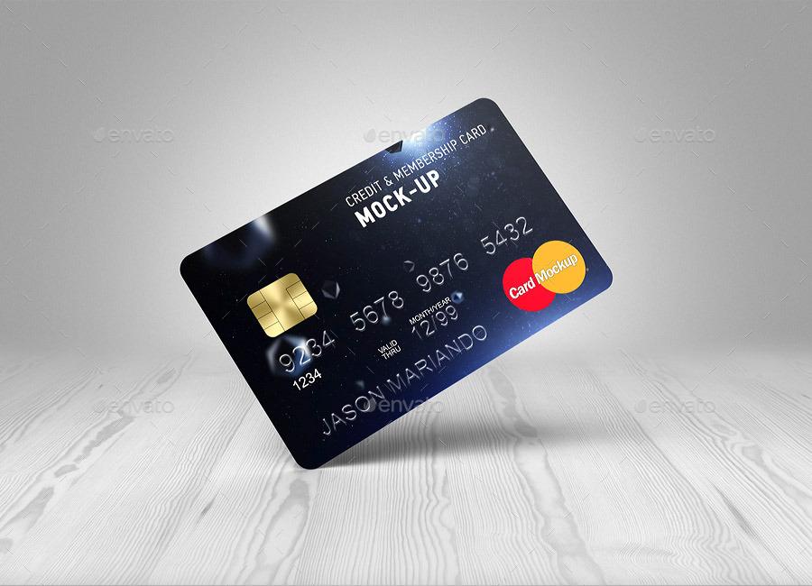 Credit Bank Card Mock Up By Ayashi Graphicriver