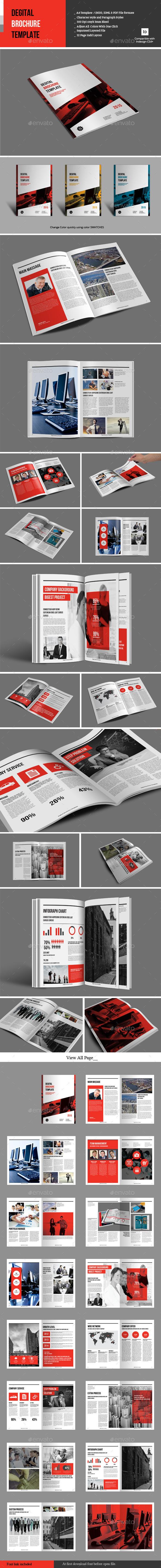 Degital Brochure Template - Corporate Brochures