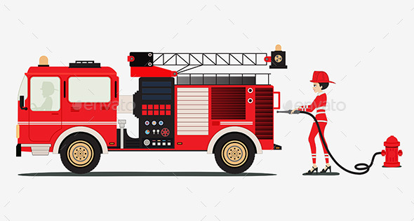 Fire Truck - People Characters