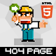 P.Guys - Pixel art 404 page - ThemeForest Item for Sale