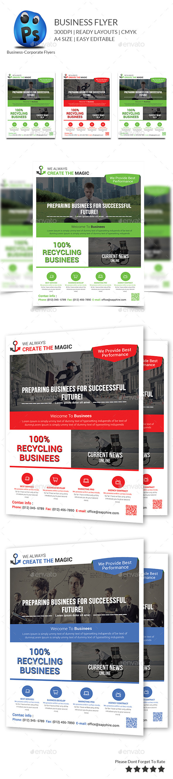Corporate Business Flyer Template - Flyers Print Templates