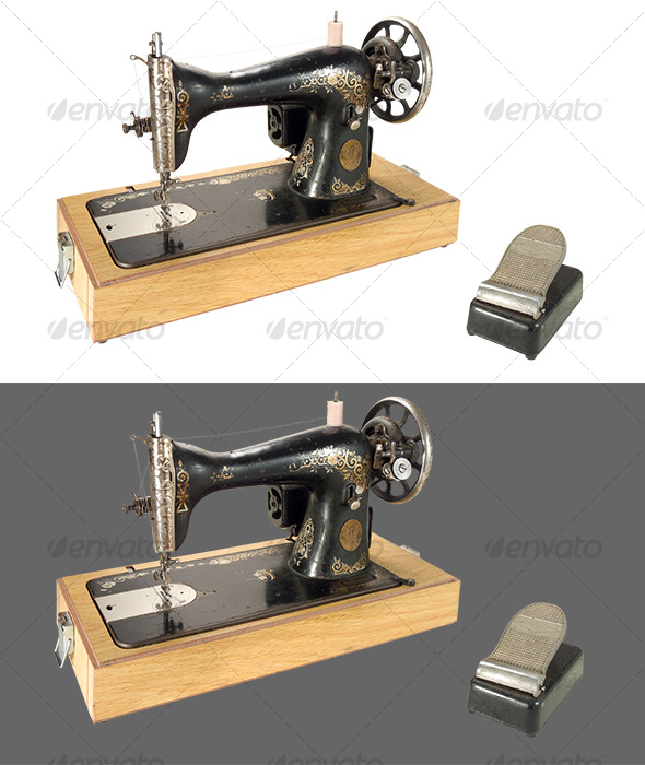 Sewing Machine - Home & Office Isolated Objects
