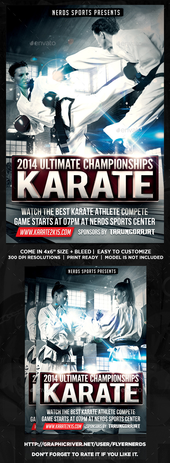 Karate Fighting Championships Sports Flyer - Sports Events