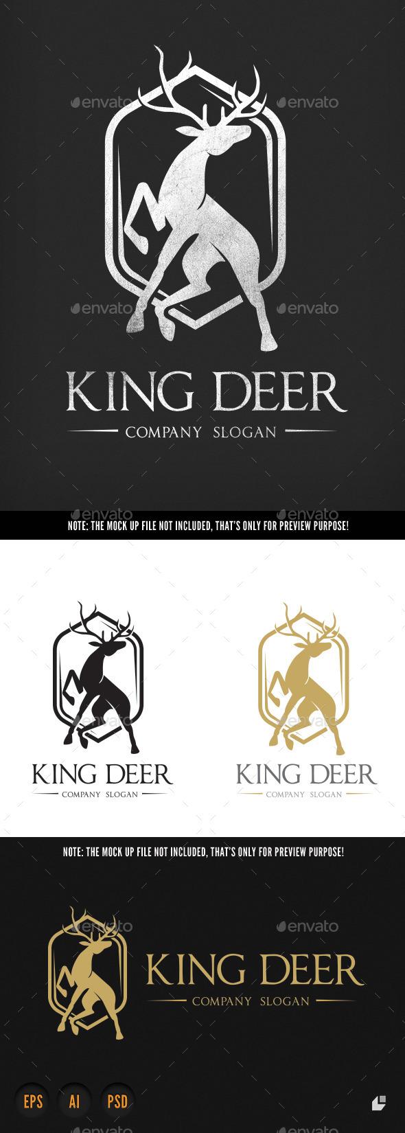 King Deer - Crests Logo Templates