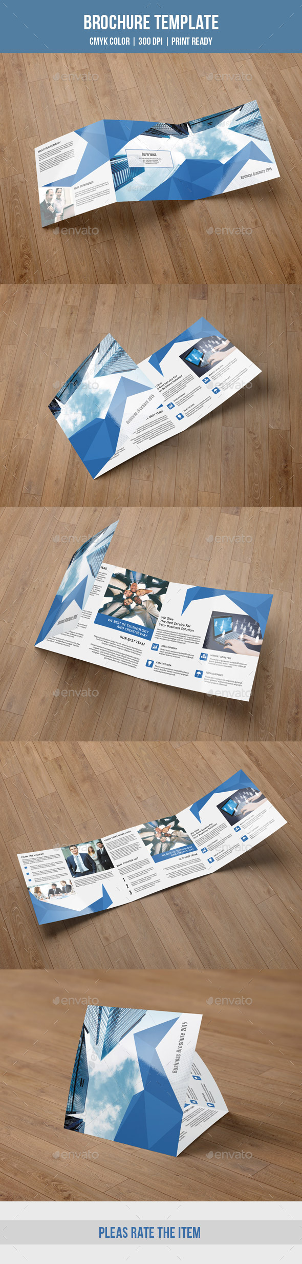 Abstract Square Trifold Brochure-V54 - Corporate Brochures