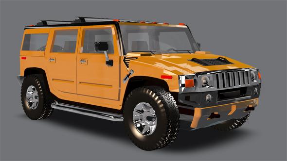 Element 3D Big Truck - 3DOcean Item for Sale