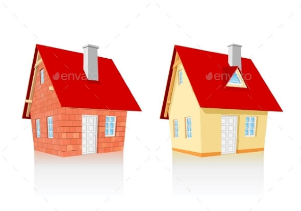 Completed and Under Construction House - Buildings Objects