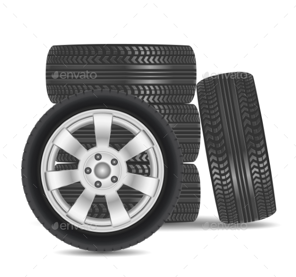 Rubber Tire Icon - Sports/Activity Conceptual
