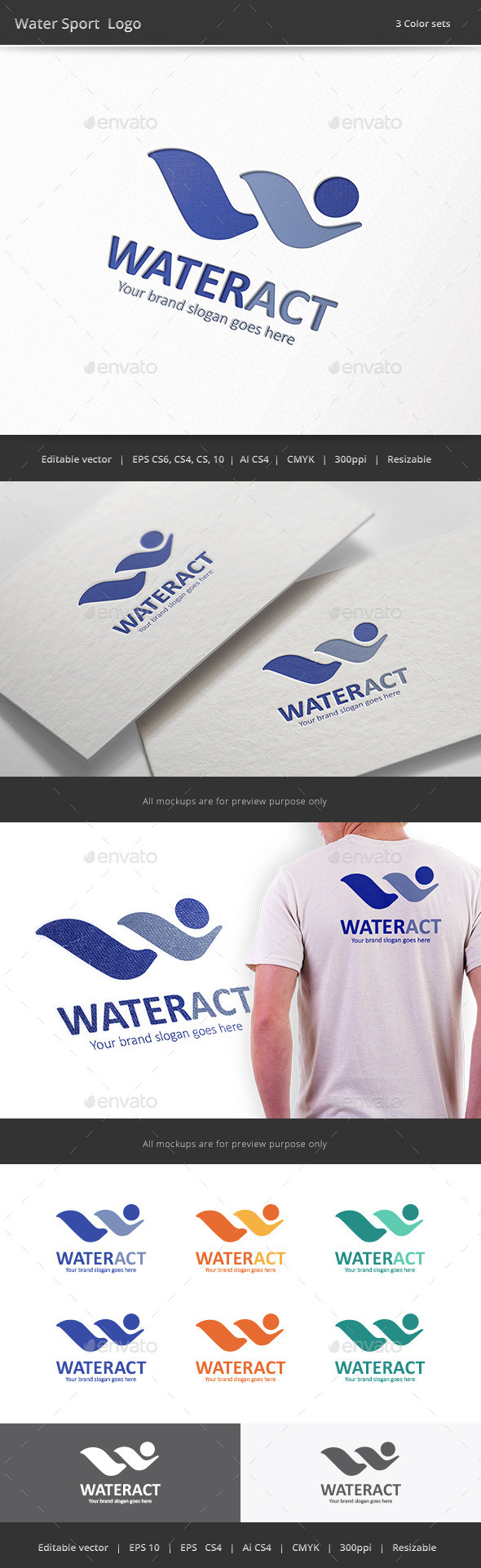 Water Sport Logo - Vector Abstract