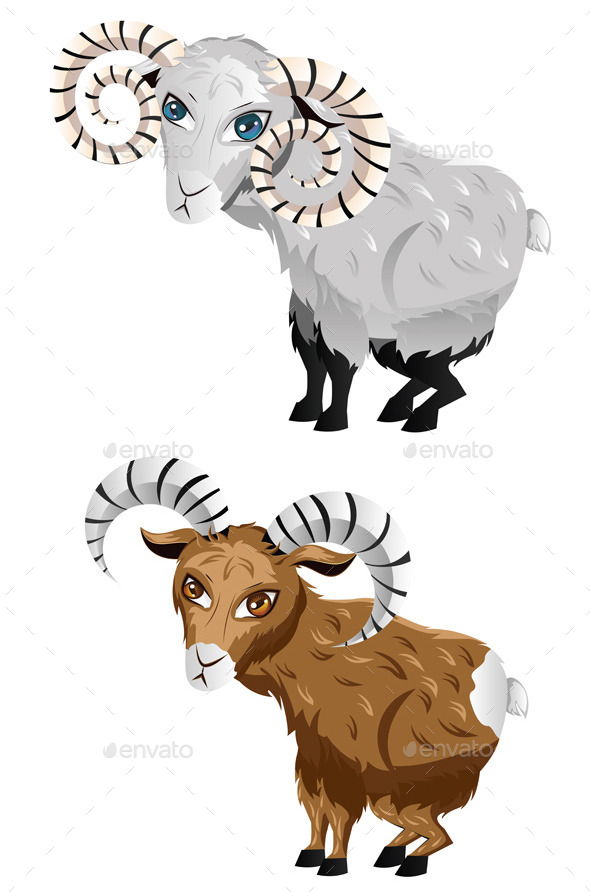 Cartoon Ram - Animals Characters