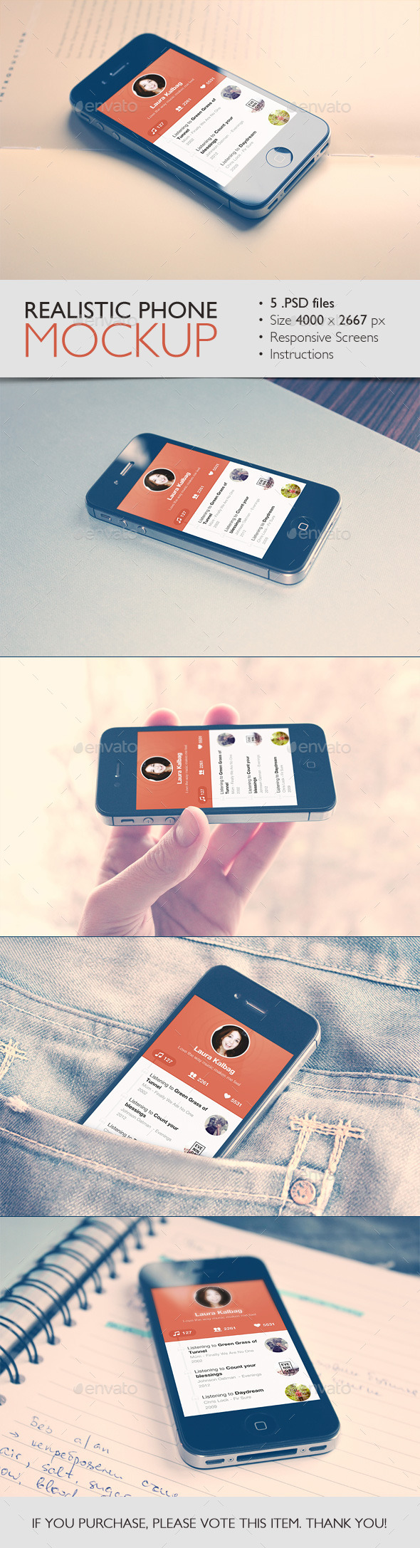 Realistic Phone Mockup - Mobile Displays