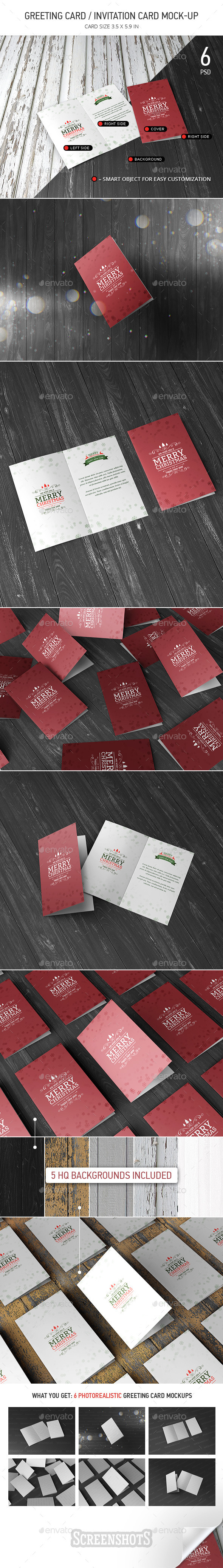 Greeting / Invitation Card Mock-Up  - Miscellaneous Print