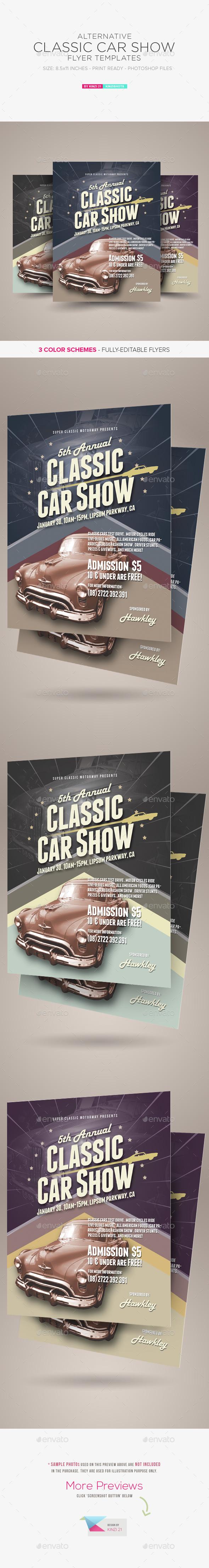 Alternative Classic Car Show Flyers - Miscellaneous Events