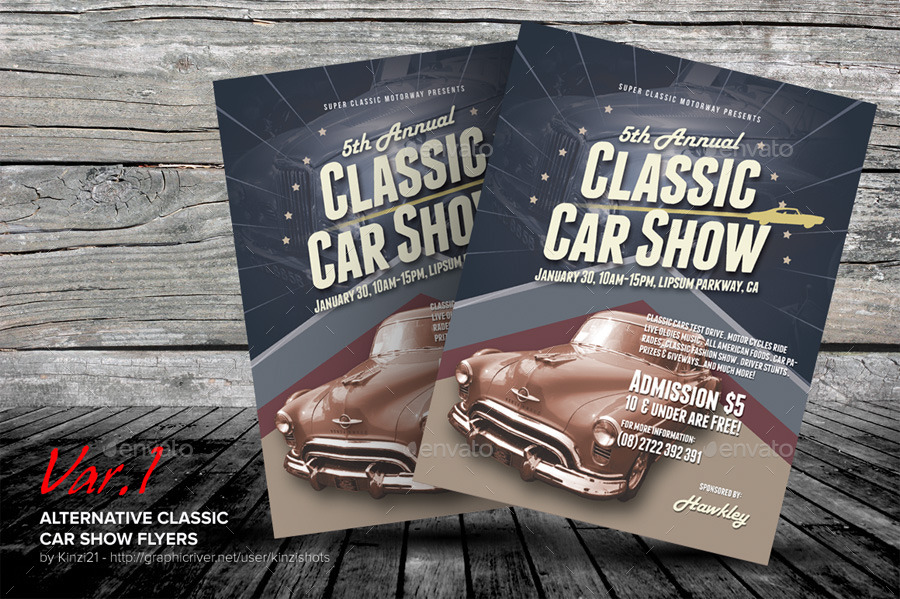 Alternative Classic Car Show Flyers By Kinzishots  Graphicriver